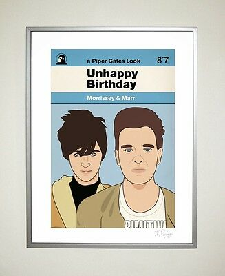 Morrissey & Marr Ltd Ed 30cm x 40cm Poster The Smiths Indie Johnny Marr