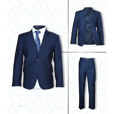 4 PC Wedding Suits Formal Navy Blue Boys Suit Communion Boys Suits