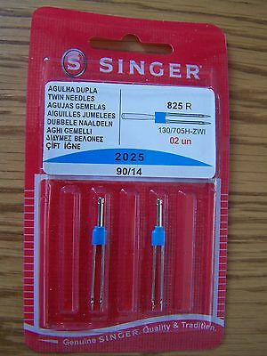 Singer Sewing Machine Twin Needles 2025  Pack Of 2-90/14  Free P/p