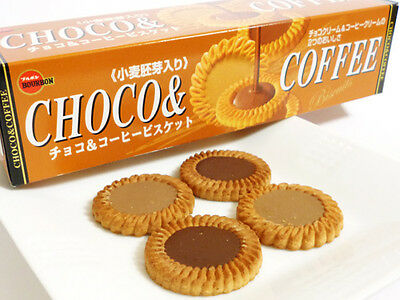 BOURBON Chocolate & coffee cream biscuits in Japan 1 Year
