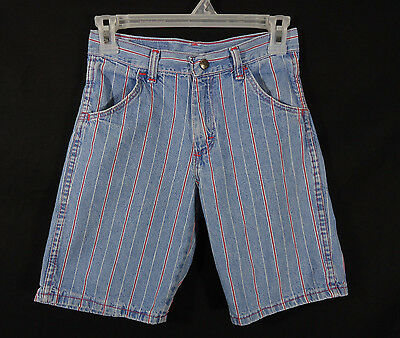 Vintage Wrangler Authentic Jeans Youth Shorts Size 10 Hipster, 90's, Red Stripes