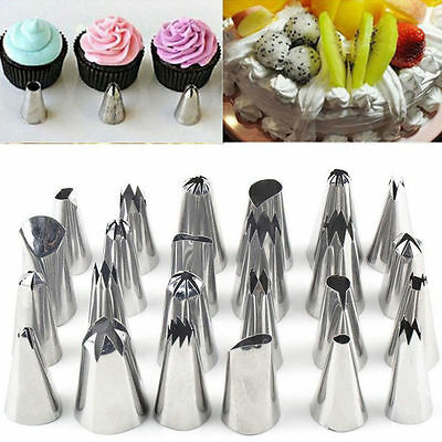 24 Pieces ICING PIPING NOZZLE Tool Set Box - Cake Cupcake Sugarcraft Decorating