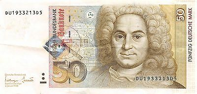 Germany 50 Deutsche Mark 2.1.1996 P 45  circulated Banknote