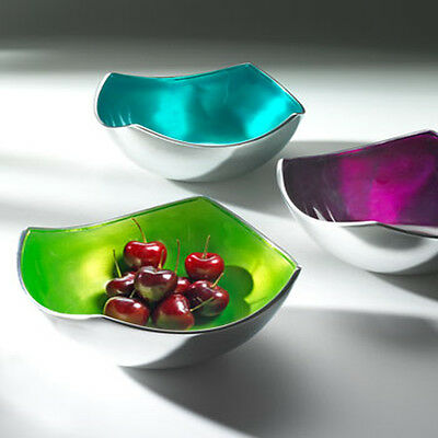 Recycled Aluminium Small 4 Point Bowl in Striking Colours