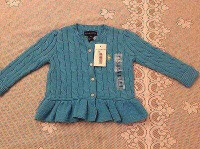 Ralph Lauren Baby Girls Cable-Knit Cardigan, Size 12M *****NWT*****
