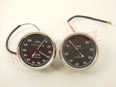 Royal Bike Vintage Smith Replica Speedometer 120 Mph With Rpm *100 Bsa Enfield