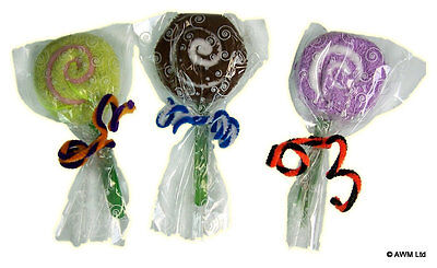 Job Wholesale/ 49 X Mixed Flannel Lollipops Free Pp Uk Only