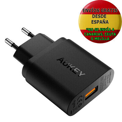 Aukey Quick Charge 3.0 Cargador De Red 18W [Qualcomm Certificado] Cargador Móvil