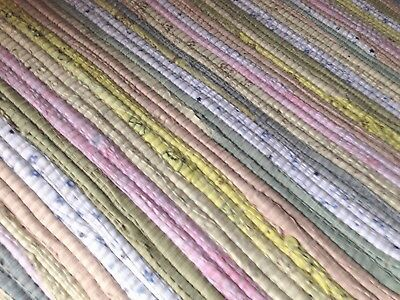 100% Recycled Cotton Rag Rugs in pale pastels 120 x 180 cms great for nursery