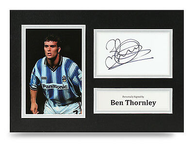 Ben Thornley Signed A4 Photo Huddersfield Town Autograph Display Memorabilia COA