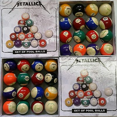 """"""" METALICA """"   Officially Licensed Pool Balls Set of 16  April"""