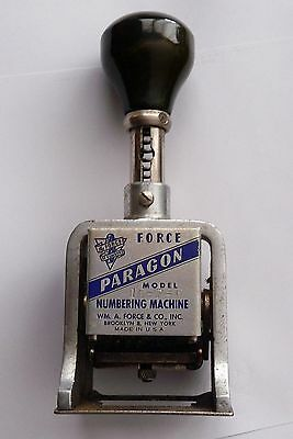 Vintage Force Numbering Machine Paragon   Brooklyn NY