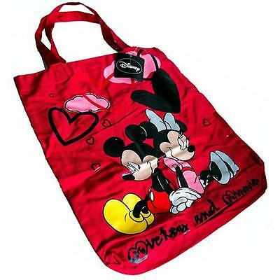 Disney - Mickey And Minnie Lightweight Cotton Shopper/ Tote Bag - New & Official