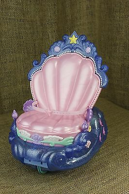 Disney Mattel Mermaid Ariel Barbie Doll Chair Musical Lights Up Toy Wheels