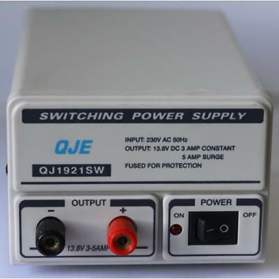 QJE Switch Mode Power Supply QJE QJ1921 3-5 AMP Power Supply Unit