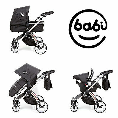 3 in1 Travel System baby travel system. Pushchair Pram Car Seat Carrycot