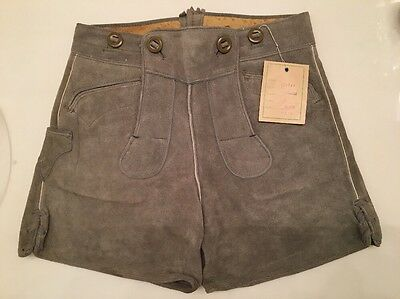 Vintage Lederhosen Authentic From Germany Tags Intact Child Size