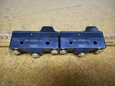 Micro Switch BA-R358-A2 Snap Limit Switch 15A 125, 250, Or 480VAC (2 New No Box)
