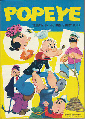 Popeye Television Picture Story Book - 1964 Hb First Edition - Very Good