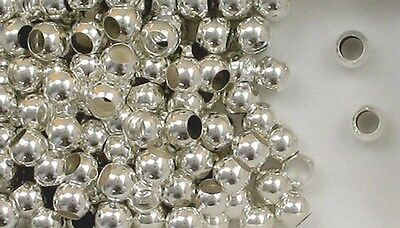 925 Sterling Silver 8mm Spacer Beads, 4mm Hole, Choice of Lot Size & Price