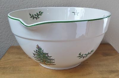 """Christmas Tree by Spode - Large 10"""" Stoneware Mixing/Dough/Batter Bowl - 16 Cup"""
