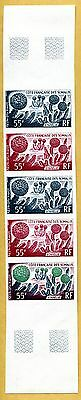 MNH Somali Coast Proof/Imperf Strip of 5 (Lot #scs76)