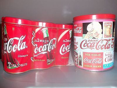 Coca Cola Canister Set Lot