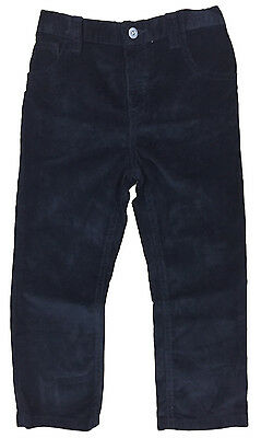 Boys Corduroy Trouser Black Ex Store Adjustable Waist Brand New