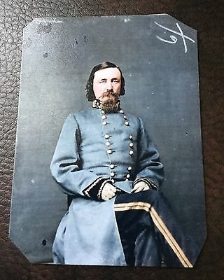 Civil War Major General George E Pickett tintype C006RP
