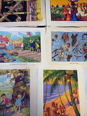 84 Macmillan School Posters 1938 FULL COLLECTION LARGE POSTERS ENID BLYTON
