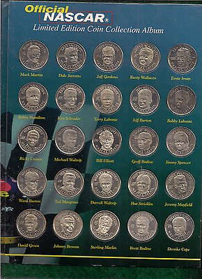 Nascar - 25 Drivers - Official - Limited Edition Coin Collection & Album - 1997