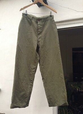 Vintage 1940's WW2 US Army Chinos Trousers