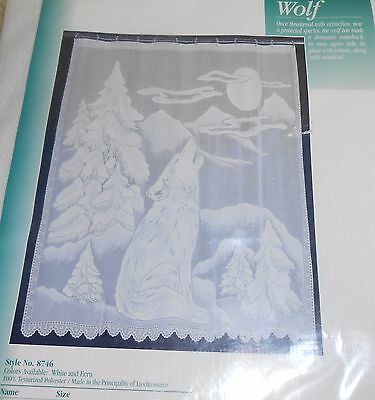 White Lace Wolf Shower Curtain 72 x 72