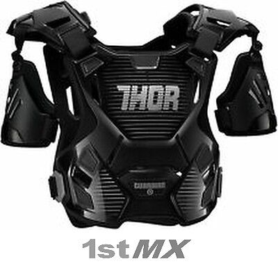 2017 Thor Guardian Motocross Chest Protector MX Kids Body Armour Black/Silver