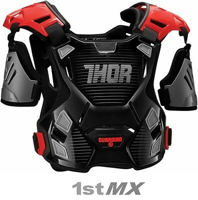 2017 Thor Guardian Motocross Chest Protector MX Kids Body Armour Black/Red