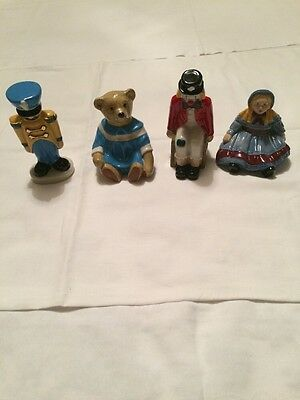 Wade collectors club 1998 Toy Soldier,Emily Doll,Amelia Bear & Pickles the Clown