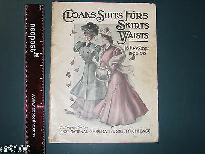 1905 Cloaks Suits Furs Skirts Waists Clothing Catalog Chicago