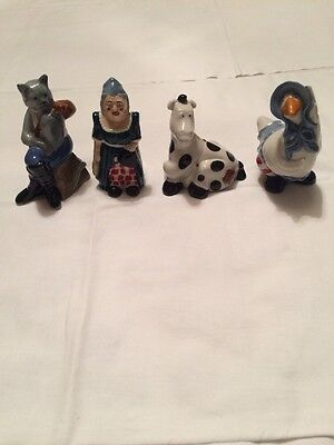 Wade collectors club 1997 Mother Goose,Dick Whittington,Pantomine Dame and Horse