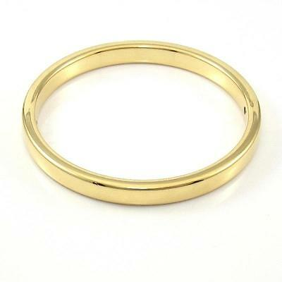 Milor Italy Solid 14K Yellow Gold with Resin Plain Bangle Bracelet QX