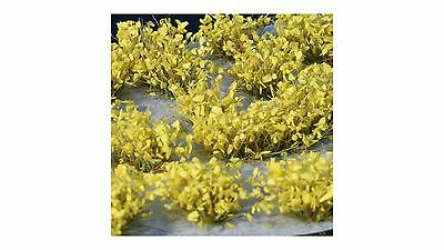 Gamer's Grass Shrub Yellow Flowers – GG014 – model railway / wargame – free post