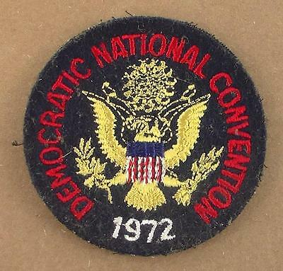 """Vintage 1972 Democratic National Convention Sew-On Patch  3"""""""