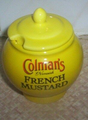 Lovely Rare Vintage Collectable Wade Colmans French Mustard Pot