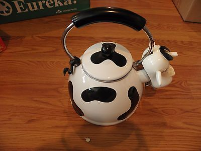 Kamenstein Country Cow Tea Pot Kettle Used Good Condition