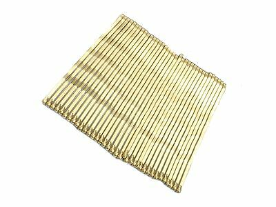 1 Pack of 36 Hair Kirby Grips Slides Golden Blonde 4.5cm Hair Accessories UK