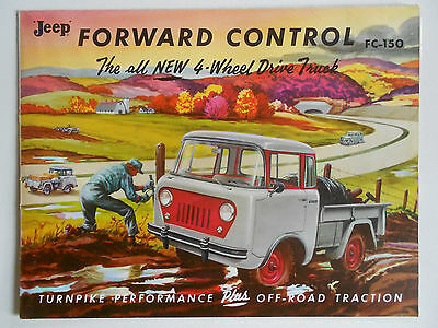 1957 Original Jeep Forward Control FC-150 Truck Sales Brochure