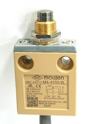 M4-4310 Bushing Panel Mount Pin Top Plunger Moujen Limitswitch 5A