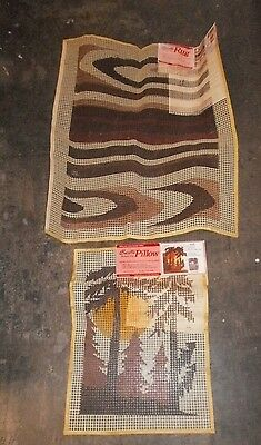 Stencilled Rug Canvas Latch Hook Deluxe