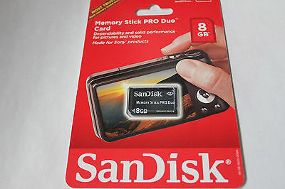 1pcs 8gb NEW SANDISK Sony Compatible Memory Stick Pro duo for Sony Cameras