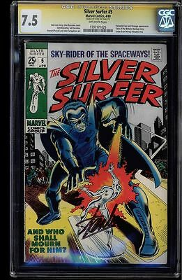 Silver Surfer #5 Cgc 7.5 Stan Lee Signed Sig Series Cgc #1197171025