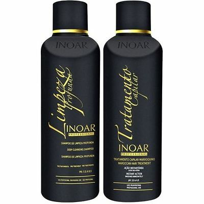 INOAR Brasilianer Keratin Marroquino 2 X 250ML FULL KIT Shampoo und Keratin